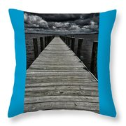 Stormy Waters I Throw Pillow