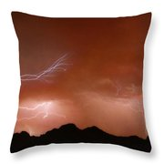 Stormy Weather Above The Mountains Throw Pillow