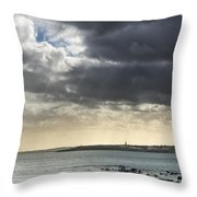 Stormy Whitley Bay Throw Pillow