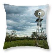 Stormy Windy Windmill Throw Pillow