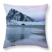 Storsandnes, Lofoten - Norway Throw Pillow