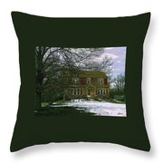 Storybook Cottage Throw Pillow