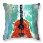 Storyteller's Guitar Throw Pillow
