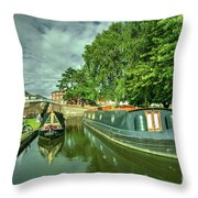 Stourport Narrowboats  Throw Pillow