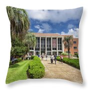 Stozier Library At Florida State University Throw Pillow