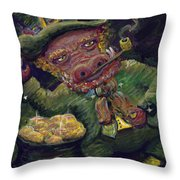 St.patricks Day Pig Throw Pillow