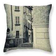 Strada Al Duomo - The Road To The Duomo Throw Pillow
