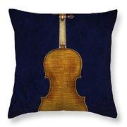 Stradivarius Violin Back Throw Pillow