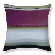 Straight Across Throw Pillow