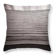 Straight Line Above Throw Pillow