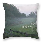 Straight Paths - Text Full Throw Pillow
