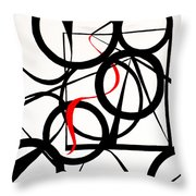 Straights And Rounds Throw Pillow