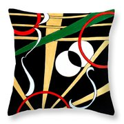 Straights And Rounds.2 Throw Pillow