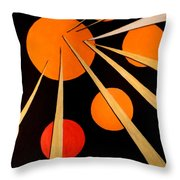 Straights And Rounds.3 Throw Pillow