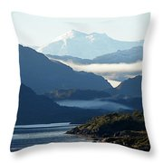 Straits Of Magellan Vii Throw Pillow