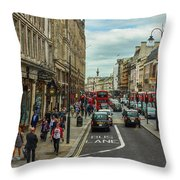 Strand Street, London. Throw Pillow