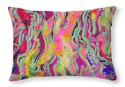 Strands Of Time  Throw Pillow