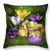 Strange Bunnies Throw Pillow