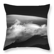 Lenticular Cloud Formation  Throw Pillow by Ken Barrett