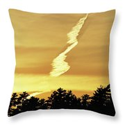 Strange Clouds At Sunset I Throw Pillow