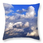 Strange Clouds Throw Pillow
