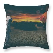 Strange Encounter Throw Pillow