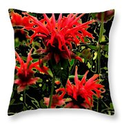 Strange Garden Throw Pillow