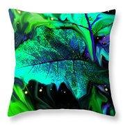 Strange Green World Throw Pillow