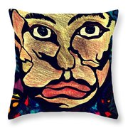 Strange Man Color Throw Pillow