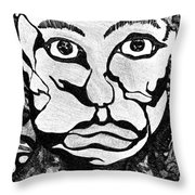 Strange Man Throw Pillow