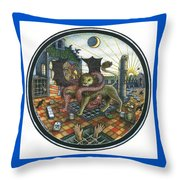 Strange Reverie Throw Pillow