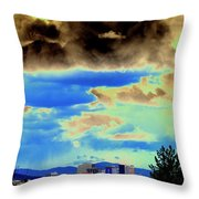 Strange Spokane Storm Throw Pillow