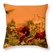 Strange Weather/flourished Flower Throw Pillow