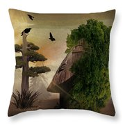 Stranger In The Forest Throw Pillow