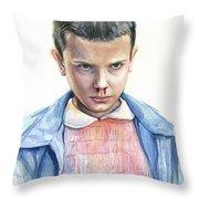 Stranger Things Eleven Portrait Throw Pillow