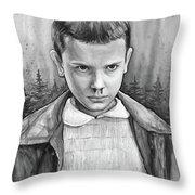 Stranger Things Fan Art Eleven Throw Pillow