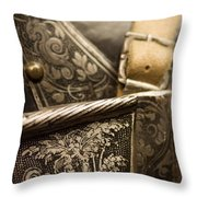 Strapped In Steel Throw Pillow