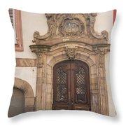 Strasbourg Door 09 Throw Pillow