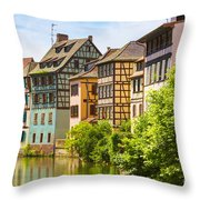 Strasbourg, Half-tmbered Houses, Petite France, Alsace, France  Throw Pillow