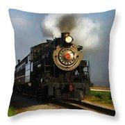 Strasburg Locomotive Throw Pillow