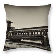 Strasburg Rail Road Throw Pillow