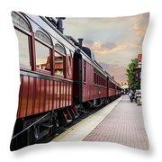 Strasburg Railroad Throw Pillow