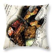 Strat Abstracta No. 4 Sunrise Throw Pillow