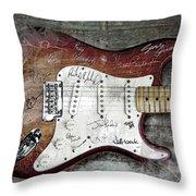 Strat Guitar Fantasy Throw Pillow