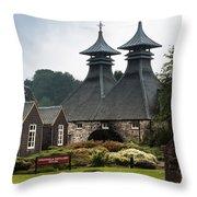 Strathisla Whisky Distillery Scotland Throw Pillow