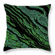 Stratification Throw Pillow