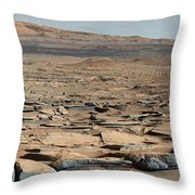 Stratified Rock On Mars Throw Pillow