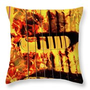 Stratocaster Strat Plus Lace Sensors Pop Art Throw Pillow