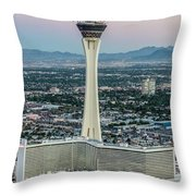 Stratosphere Casino Hotel And Tower Throw Pillow