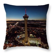 Stratosphere Casino Hotel  Throw Pillow
